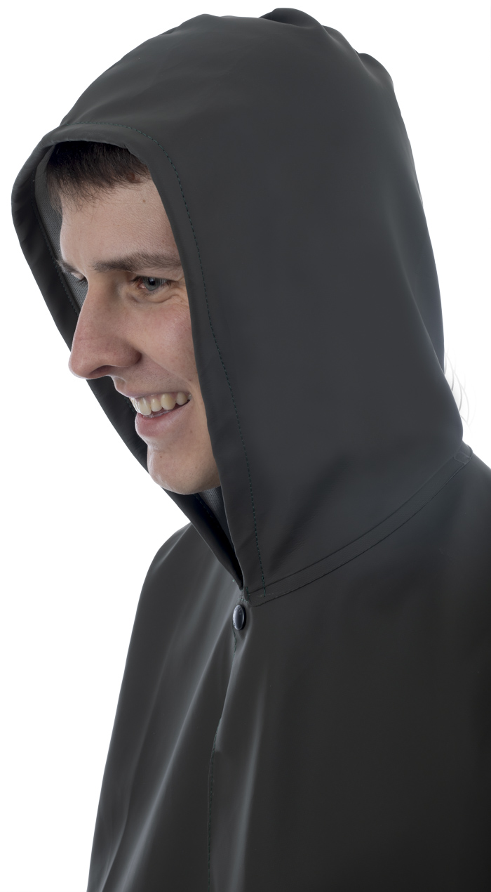 LONG COAT WITH HOOD GLENTEX FABRIC